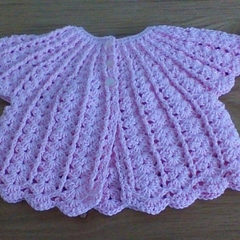 Crochet Cotton Angel Top to fit 0 to 6 months