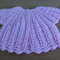 CROCHETED COTTON ANGEL TOP TO FIT 0 TO 6 MONTHS.