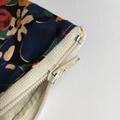 BUSHFIRES Red blue green yellow floral Liberty print denim coin purse