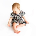 dress - sunflower / organic cotton peasant-style / eco friendly / girl 2-3 years