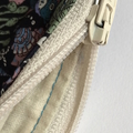 Liberty print star turtle coral and shell print denim coin purse