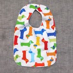 baby bib - sausage dogs / organic cotton and bamboo towelling
