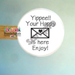 Happy Mail  Stickers - Mail Labels for Products - Gifts - Envelopes
