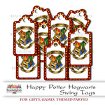 Harry Potter Swing Tags - Hogwarts Small Swing Tags - Gift Tags - 25 Tags