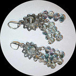 Grey AB crystal chandelier earrings