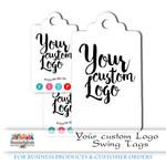 Custom Logo Tags - Add your own Logo Swing Tags - 50 Tags