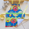 Kids/Toddlers Apron - lined kitchen/craft apron - Hootie Owl