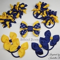 Big Bella 'Fun' School Bow Pack -  Custom Made in school colors