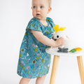 dress - herb meadow / organic cotton peasant-style / eco friendly / 4 years