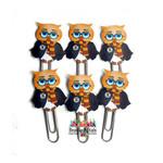 Harry Potter Owl Planner Clip Set of 6 -Journal Clips -Planner Clips- OoAK