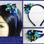 Bella 'Curlz' School Thick Headband (1) -  Custom Made in school colors