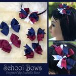 Bella 'Stylish' School Bow Pack -  Custom Made in school colors