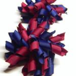 Mini 'Curlz' School Hair Clips (2) -  Custom Made in school colors