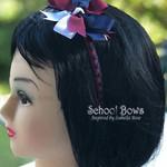 Bella 'Stylish' School Headband (1) -  Custom Made in school colors