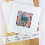 Handcrafted earrings in a gift card: Christmas, Birthday or Thank you