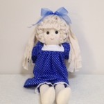 Rag Doll - Small - Royal Blue and white spots