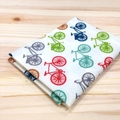 Handkerchief - bicycles / medium 30x30cm / organic cotton / zero waste
