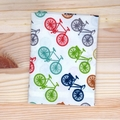 Handkerchief - bicycles / large 35x35cm / organic cotton / zero waste