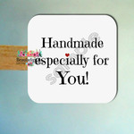 Handmade Especially for You Stickers Labels - Handmade Square Stickers - Labels