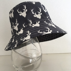 Boys summer hat in antler fabric