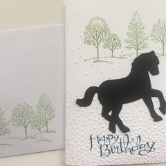 Horse Birthday Card - free postage