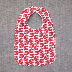baby bib - red fox / organic cotton and hemp fleece