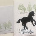 Horse Birthday Card - free postage
