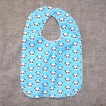 baby bib - pandas / organic cotton and hemp fleece