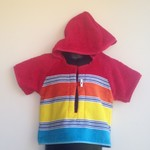 Size 1 Boys Beach Towel Shirt/Pool Cover up