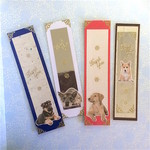 Four Thank You  Bookmarks with Dogs