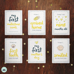 Baby Milestone Cards – Yellow Edition (set of 36 cards)