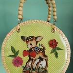 Cute vintage deer bag.