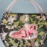 Handcrafted vintage inspired pinup girl bag
