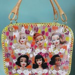 Vintage inspired handcrafted Barbie bag