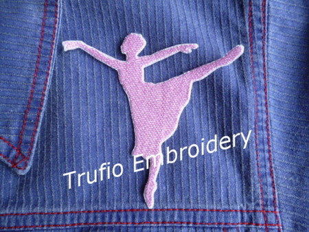 """""""Solid Ballerina"""" iron on patch"""