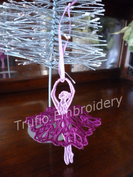 """Hanging Lace Ballerina"""