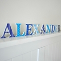 Name Plaque for Wall or Door.  6cm. 9 Letters.