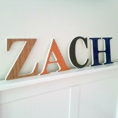 Wall or Door Name Plaque. 17cm. 4 Letters.