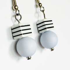 Contemporary Seaside Stripe Earrings
