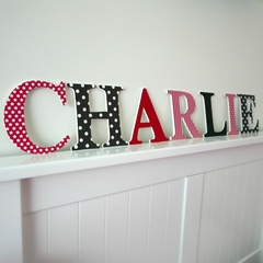 Name Letters for Wall or Door. 12cm. 7 letters.