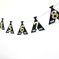 Teepee 12 month photo banner. Tent Garland Black & White. First birthday party.