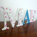 Wall or Door Name Plaque. 17cm. 3 Letters.