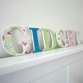 Name Plaque for Wall or Door.  9cm. 6 Letters.