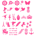 GRAPHIC - MEDIUM 8CM ADHESIVE VINYL GRAPHIC DECAL