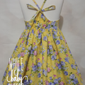 Yellow Floral dress - Size 2