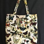 Butterfly Print Canvas Tote