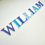 Wooden 6cm Wall or Door Name Letters. 7 Letters.
