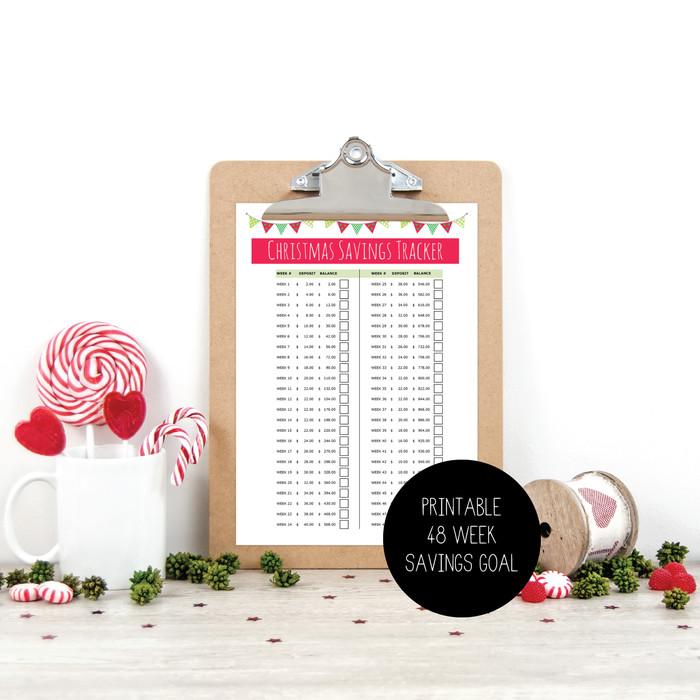 printable christmas savings tracker xmas budget planner money