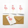 Mini Gift Card Pack + Envelopes - Pink Flamingo - Set of 4 - GC02