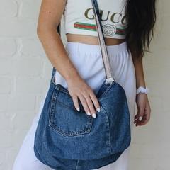 Retro Upcycled and Handmade Denim bag.